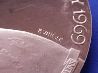 Moon Landing Medal by Vincze