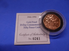 Gold 50p 1994 D-Day
