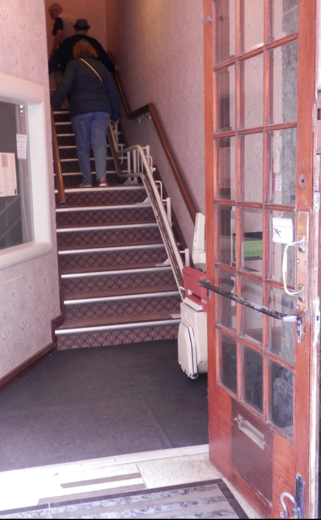Stairlift at Botham's tearoom, Whitby