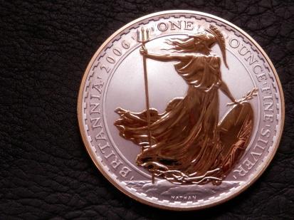Silver Britannia coin