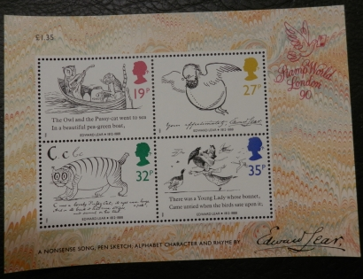 Edward Lear Stamps (1988)
