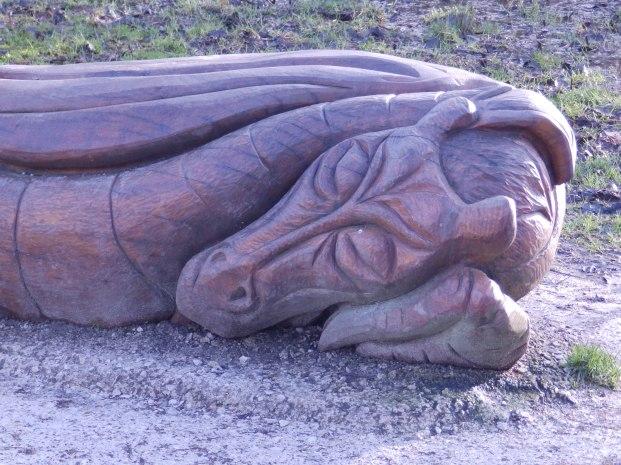 Wooden Dragon at Carsington
