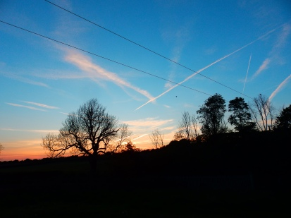 Sunset over Screveton