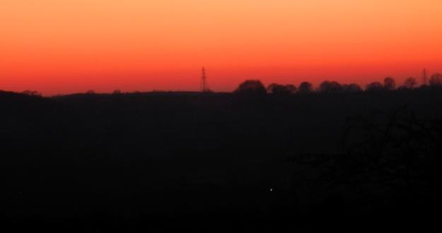 Sunset Dec 2019 Langley Mill