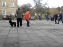 Dog owners being sociable