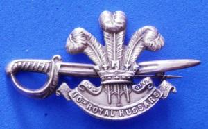 Sweetheart Brooch - 10th Royal Hussars