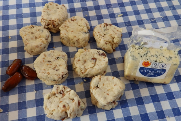 Before batching - Date and Stilton Scones