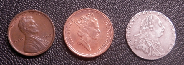 1787 Sixpence Size Comparison
